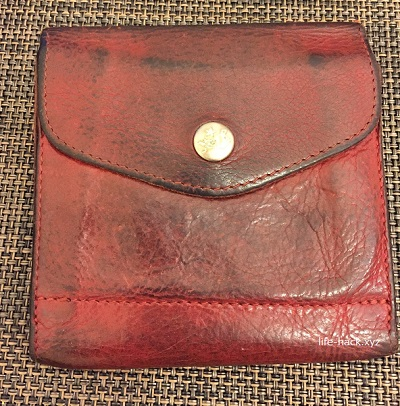 突然の雨!革の財布に水シミが!どうすればいいの?